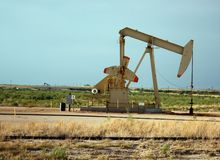 Olie pumpjack Royalty-vrije Stock Fotografie