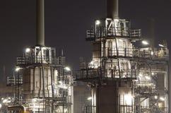 Olie-raffinaderij installatie royalty-vrije stock foto