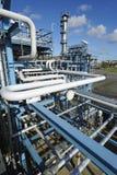 Olie-raffinaderij mening van hierboven Stock Foto