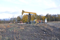 Olie schommelende machine in het Krasnodar-gebied Rusland Royalty-vrije Stock Fotografie