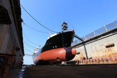 Olie tankerbij het dokken royalty-vrije stock afbeelding