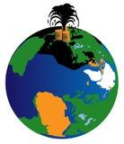 Olie ter wereld vector illustratie