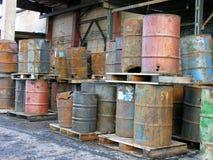 Olie trashcan in Noorwegen royalty-vrije stock foto