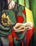 Olie van het originele werk van abstract art. Stock Illustratie