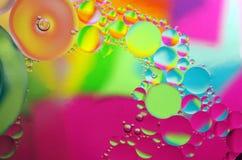 Olie in water royalty-vrije stock afbeelding