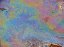 Olie in Water - Multicolored Patroon stock fotografie