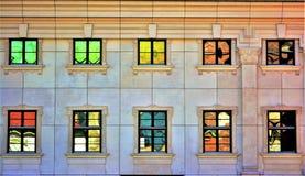 Olieachtige vensters Stock Foto
