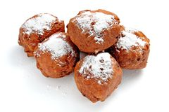 Oliebollen, dutch traditional new year pastry Royalty Free Stock Photos