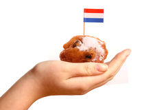 Oliebollen, dutch traditional new year pastry Stock Photos