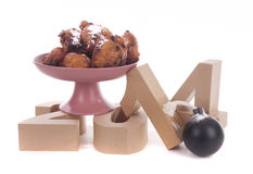 Oliebollen for the New Year Royalty Free Stock Images