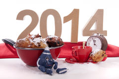 Oliebollen for the New Year Royalty Free Stock Photography