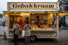 Oliebollen Stand in Holland Stock Photography