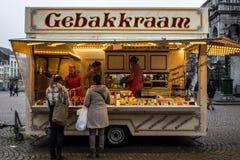Oliebollen stojak w Holandia Fotografia Stock