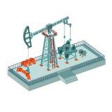 Olieboortoren complex op wit Royalty-vrije Stock Afbeelding