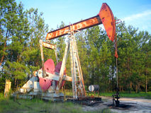 Oliebron stock foto