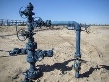 Oliebron in Noordelijk Rusland Stock Afbeelding