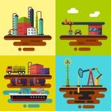 Olieextractie en levering Stock Afbeeldingen
