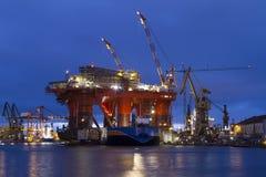 Olieplatform Royalty-vrije Stock Afbeelding