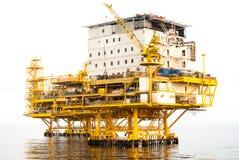 Olieplatform stock fotografie