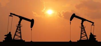 Oliepomp royalty-vrije stock afbeelding