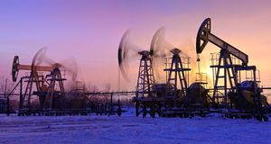 Oliepompen Stock Fotografie