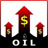 Olieprijs. Vector illustratie vector illustratie