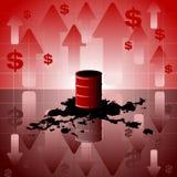 Olieprijsachtergrond Royalty-vrije Stock Fotografie