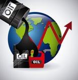 Olieprijzen Royalty-vrije Stock Foto's
