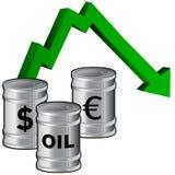 Olieprijzen het dalen vector illustratie