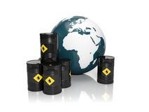 Olieproductie Stock Afbeeldingen