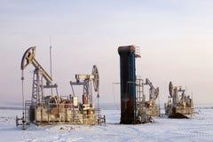 Olieproductie Royalty-vrije Stock Foto's