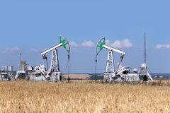 Olieproductie Royalty-vrije Stock Fotografie