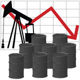 Olieproductie stock illustratie