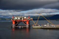 Olieproductieinstallatie in Onderhoud royalty-vrije stock fotografie