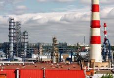 Olieraffinaderij Royalty-vrije Stock Afbeeldingen