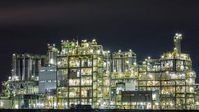 Olieraffinaderij Stock Foto