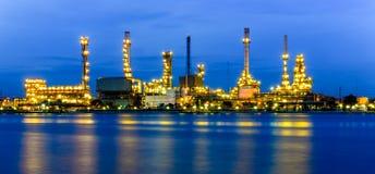 Olieraffinaderij Royalty-vrije Stock Foto's