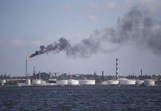 Olieraffinaderij in Havana, Cuba stock afbeeldingen