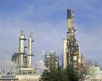 Olieraffinaderij in Sarnia, Canada stock foto's