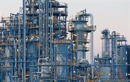 Olieraffinaderij Schwechat in Oostenrijk stock foto
