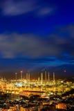 Olieraffinaderijen Stock Fotografie