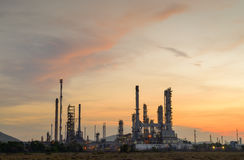 Olieraffinaderijen Thailand stock foto's