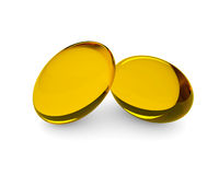 Oliesupplementen in zachte gelcapsule Royalty-vrije Stock Fotografie