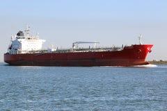 Olietanker in Golf van Mexico dichtbij Galveston, Tx Stock Foto