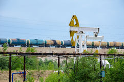 olieveld Stock Afbeelding