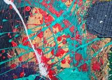 Olieverf op canvas als abstracte achtergrond royalty-vrije illustratie