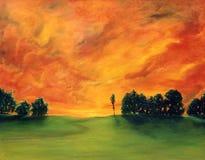 Olieverfschilderij Royalty-vrije Stock Fotografie
