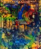 Olieverfschilderij Stock Afbeeldingen