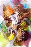 Olieverfschilderij - Abstractie stock foto's