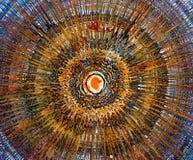 Olieverfschilderij - Abstractie stock afbeelding